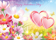 Romantic card for Valentines Day Royalty Free Stock Photo
