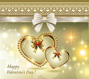 Romantic card for Valentines Day Stock Photography