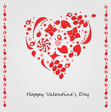 Romantic cartoon valentines card Royalty Free Stock Photography