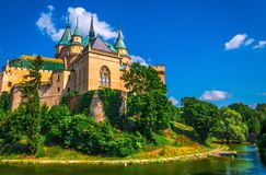 Romantic castle in Bojnice. Slovakia stock photos