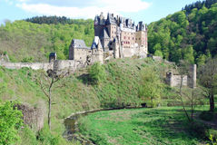 Romantic Castle Burg Eltz, Mosel, Germany. Burg Eltz a romantic medieval castle nestled in the hills above the Moselle River between Koblenz and Trier, Germany royalty free stock photo