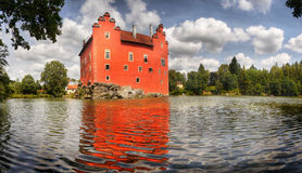 Romantic Castle, Water Castle Stock Photography