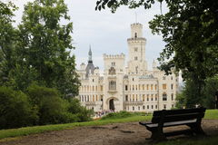 Romantic castle Hluboka Stock Photography