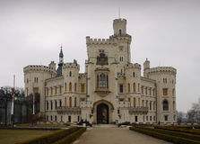Romantic castle. Hluboka castle in the Czech Republic Royalty Free Stock Images