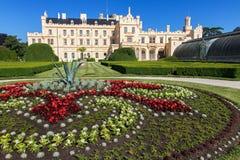 Romantic castle Lednice Stock Photography