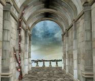 Romantic castle room Royalty Free Stock Image