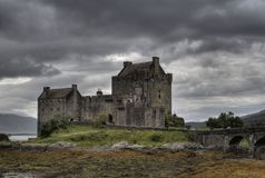 Romantic castle in Scotland Royalty Free Stock Images
