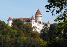 Romantic castle. Romantic view of the castle Konopiste (Czech Republic Royalty Free Stock Photos