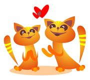 Romantic cats Royalty Free Stock Images
