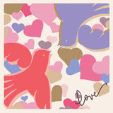 Romantic celebration card Doves Stock Photography