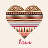Romantic celebration card Ornamental heart Stock Images