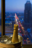 A Romantic Celebration, Champagne with a View Stock Photos