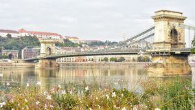 Romantic Chain Bridge stock images