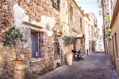Romantic Chania street Royalty Free Stock Image