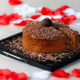 Romantic chocolate cake 02 Royalty Free Stock Photos