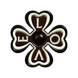 Chocolate love clover candy symbol Royalty Free Stock Photography