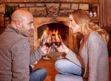 Romantic Christmas holiday Stock Photos