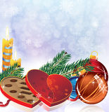 Romantic Christmas sparkling background Royalty Free Stock Photography