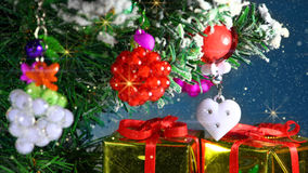 Romantic christmas tree decoration close-up Stock Photography