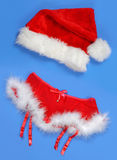 Romantic Christmas Women Costume Royalty Free Stock Photos