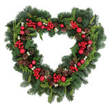Romantic Christmas Wreath Stock Images