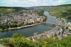 Romantic city Bernkastel Kues in Germany. The Moezel river and Old Small city Bernkastel Kues in Germany Stock Image