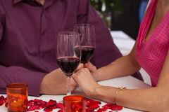 Romantic classes of wine Stock Photo