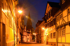 Romantic classic half-timbered old houses in Wolfenbüttel, typ Royalty Free Stock Photo