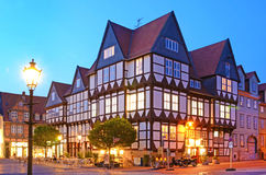 Romantic classic half-timbered old houses in Wolfenbüttel, typ Stock Photos