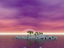 Romantic Coconut Palm Islands Stock Image