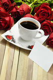 Romantic coffee Stock Image
