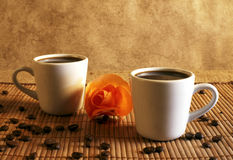 Romantic coffee Stock Photography
