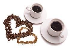 Romantic coffee Stock Images
