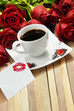 Romantic coffee Royalty Free Stock Images