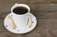 Romantic Coffee and Treats Royalty Free Stock Image