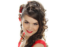 Romantic Coiffure Stock Photography