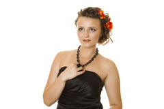 Romantic Coiffure Royalty Free Stock Photography