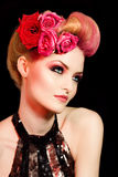 Romantic Coiffure Royalty Free Stock Images