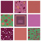 Romantic collection of cute patterns. Set of Stock Photo
