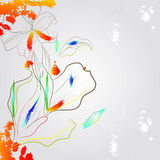 Romantic colorful background. Universal template for greeting card, web page, background Stock Photo