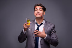 The romantic concept with man and champagne Royalty Free Stock Images