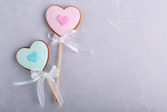 Romantic cookies Royalty Free Stock Images