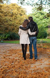 Romantic coouple in the Luxembourg garden. Of Paris, walking royalty free stock photography