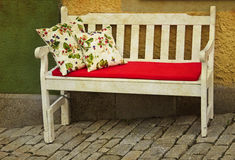 Romantic couch outdoor Stock Images