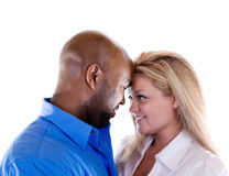 Romantic Couple. A couple are being romantic stock photos