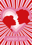 Romantic couple. And heart. vector illustration Royalty Free Stock Images