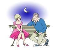 Romantic couple. Romantic date royalty free illustration