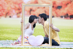 Romantic couple in autumn 1 Stock Photo