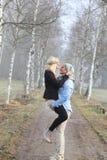 Romantic couple autumn Stock Images