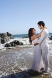 Romantic Couple at the beach Royalty Free Stock Images